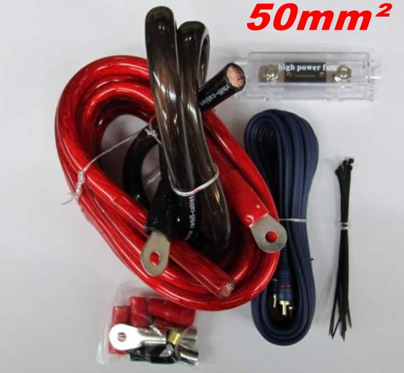 KABELSET 50qmm 50mm² Kabel Anschluß SET für Endstufe Verstärker | eBay